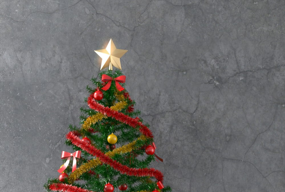 Topstjerne på juletræ